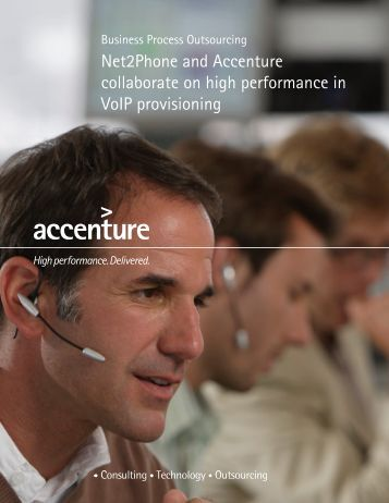 Net2phone and Accenture collaborate on high performance in Voip ...