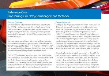Einführung PM-Methode - CPC Unternehmensmanagement AG