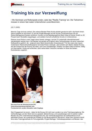 Training bis zur Verzweiflung - CPC Unternehmensmanagement AG