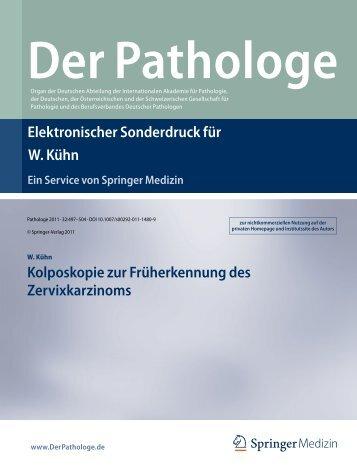 Der Pathologe - Arbeitsgemeinschaft Zervixpathologie und ...