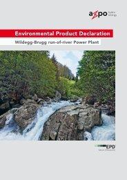 EPD Run-of-river Power Plant Wildegg-Brugg - Axpo