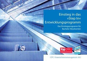 CPC-Einstieg: StepIn - CPC Unternehmensmanagement AG