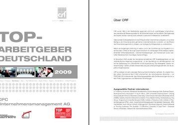 TOP Arbeitgeber Studie 2009 - CPC Unternehmensmanagement AG