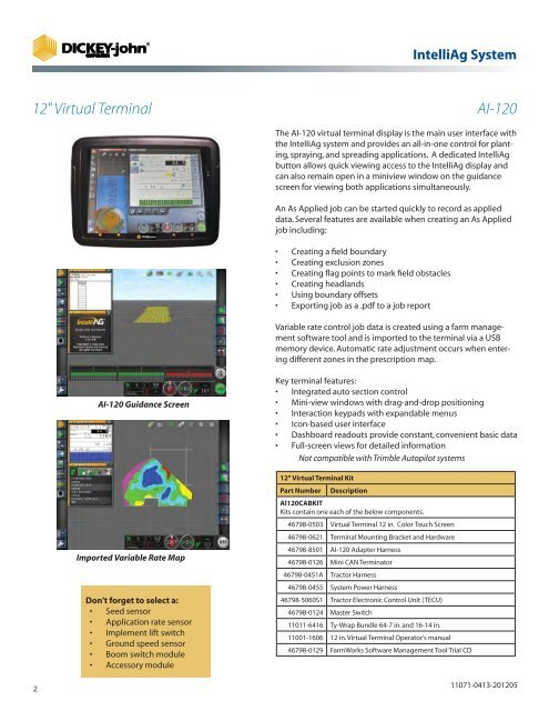 AGRICULTURE PARTS CATALOG