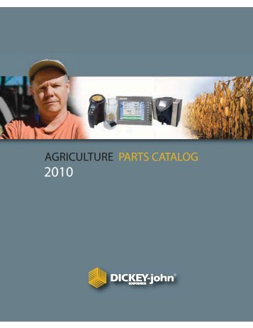 AGRICULTURE PARTS CATALOG - DICKEY-john Corporation