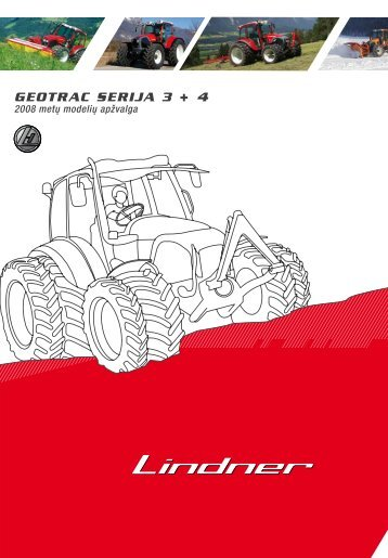 GEOTRAC SERIJA 3 + 4 2008 metų modelių apžvalga - Lindner