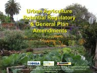 Urban Agriculture Potential Regulatory & General - City of San Diego