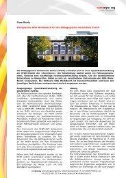 Case Study Päd. Hochschule Zürich - Consys AG