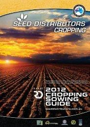 Lentil variety sowing guide 2012 - Seed Distributors