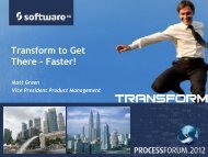 Unified Process Intelligence - Software AG
