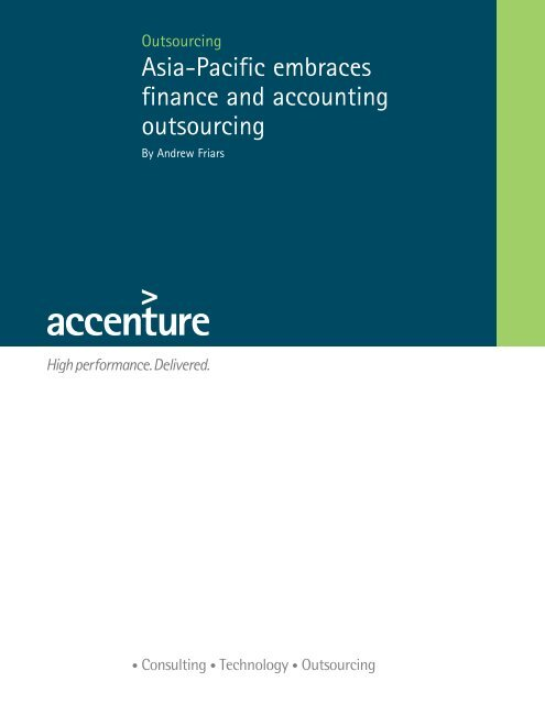 Asia-Pacific embraces finance and accounting outsourcing