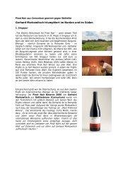 Pinot Noir aus Carnuntum gewinnt gegen ... - Weingut Markowitsch