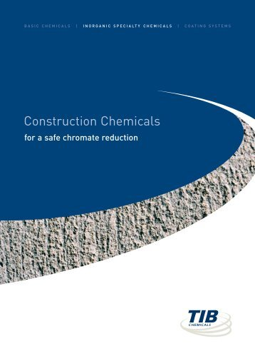 Construction Chemicals - TIB Chemicals AG