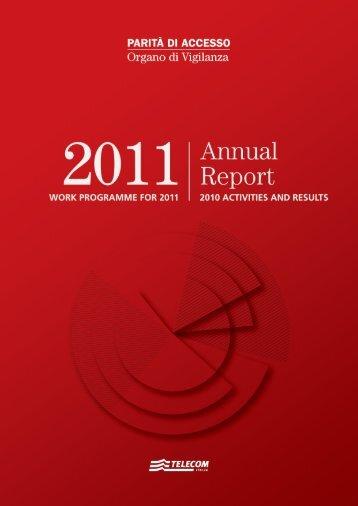 Annual Report 2011 - Organo di Vigilanza - Telecom Italia