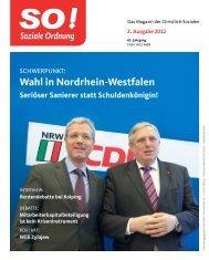 Wahl in Nordrhein-Westfalen - CDA