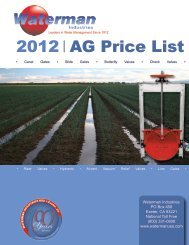 2012 AG Price List - Waterman Industries