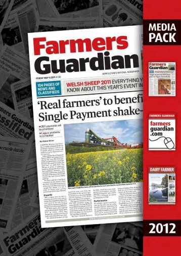 Click here to download the Online Media Pack - Farmers Guardian