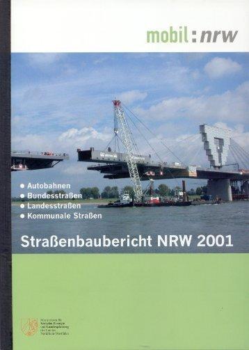 Straßenbaubericht 2001 des Landes Nordrhein-Westfalen