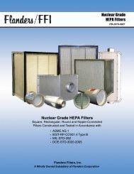Nuclear Grade HEPA Filters - Flanders/CSC