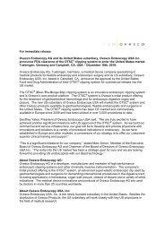 Press release - Ovesco Endoscopy AG