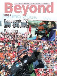 Beyond - Broadcast and Professional AV Web Site - Panasonic