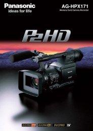 AG-HPX171 - Broadcast and Professional AV Web Site - Panasonic