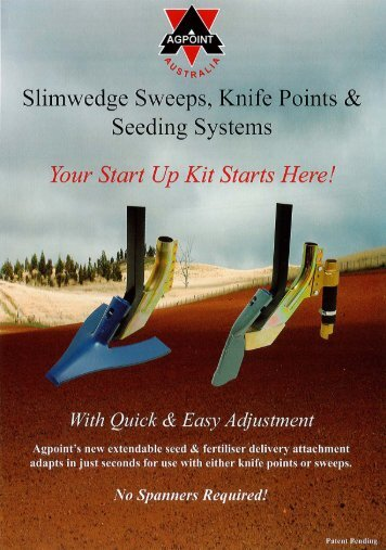 Sweep to Knife Point Brochure - Agpoint