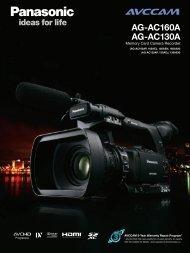 AG-AC160A AG-AC130A - Broadcast and Professional AV Web Site ...