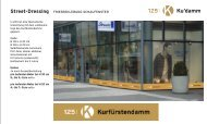 Street-Dressing FRIESBEKLEBUNG SCHAUFENSTER - AG City