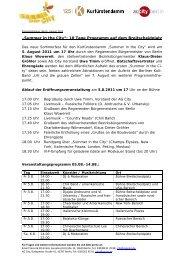 """Summer in the City"": 10 Tage Programm auf dem ... - AG City"