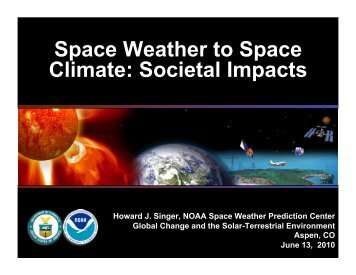 Space Weather to Space Climate - Aspen Global Change Institute