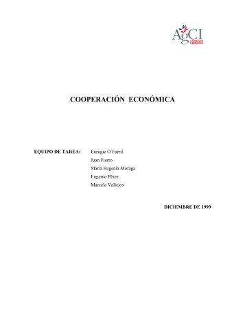 cooperación económica - Agencia de Cooperación Internacional ...