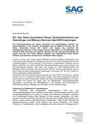Etagnires, 30 - Swiss Automotive Group AG