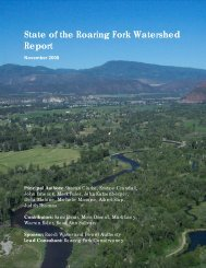 State of the Roaring Fork Watershed Report - Aspen Global Change ...