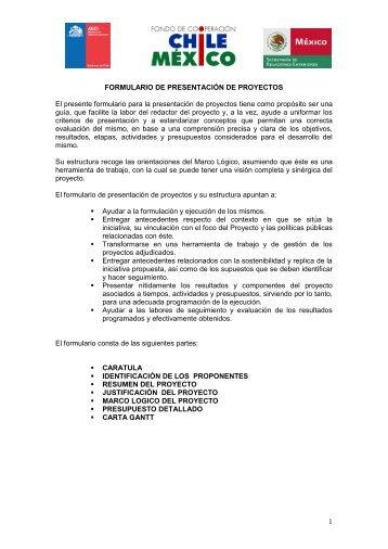 formulario de presentación de proyectos - Agencia de Cooperación ...