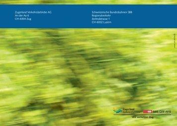 Zugerland Verkehrsbetriebe AG An der Aa 6 CH ... - Stadtbahn Zug