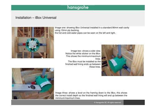 Ibox Installation Examples 2017 Hansgrohe