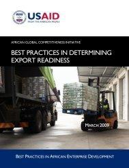 AGCI - Determining Export Readiness - USAID.gov
