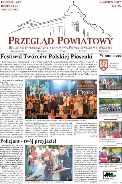 W Numerze Festiwal Twórców Polskiej Piosenki Powiat