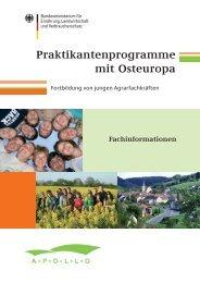 Praktikantenprogramme mit Osteuropa - BMELV
