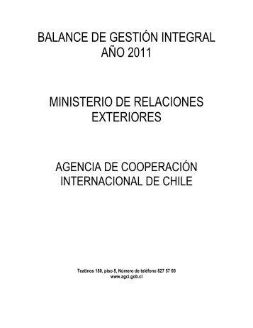 BGI - Agencia de Cooperación Internacional, AGCI