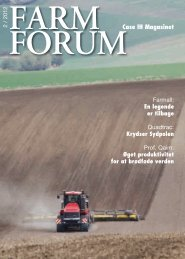 Øget produktivitet for at brødføde verden FORUM Case IH Magasinet
