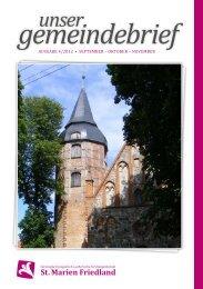 Unser Gemeindebrief - St. Marien Friedland