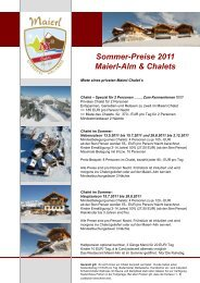 Sommer-Preise 2011 Maierl-Alm & Chalets Panorama-Apartment ...