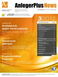 Praktiker AG Großaktionär gegen Sanierungsplan - AnlegerPlus