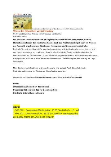 Soziologin: Nur Eigeninitiative der Gemeinden hilft - Deutsches ...