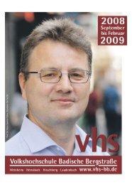 Herbstprogramm 2008 - Deutsches Institut für Erwachsenenbildung