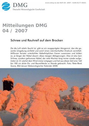 focus - Deutsche Meteorologische Gesellschaft eV (DMG)