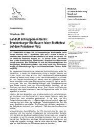 Brandenburger Bio-Bauern feiern BioHoffest auf dem Potsdamer Platz