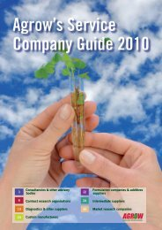 Agrow's Service Company Guide 2010